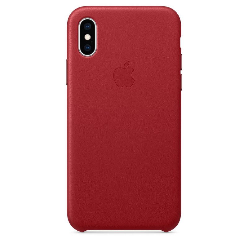 iPhone XS Leather Case - (PRODUCT)RED - obrázek produktu