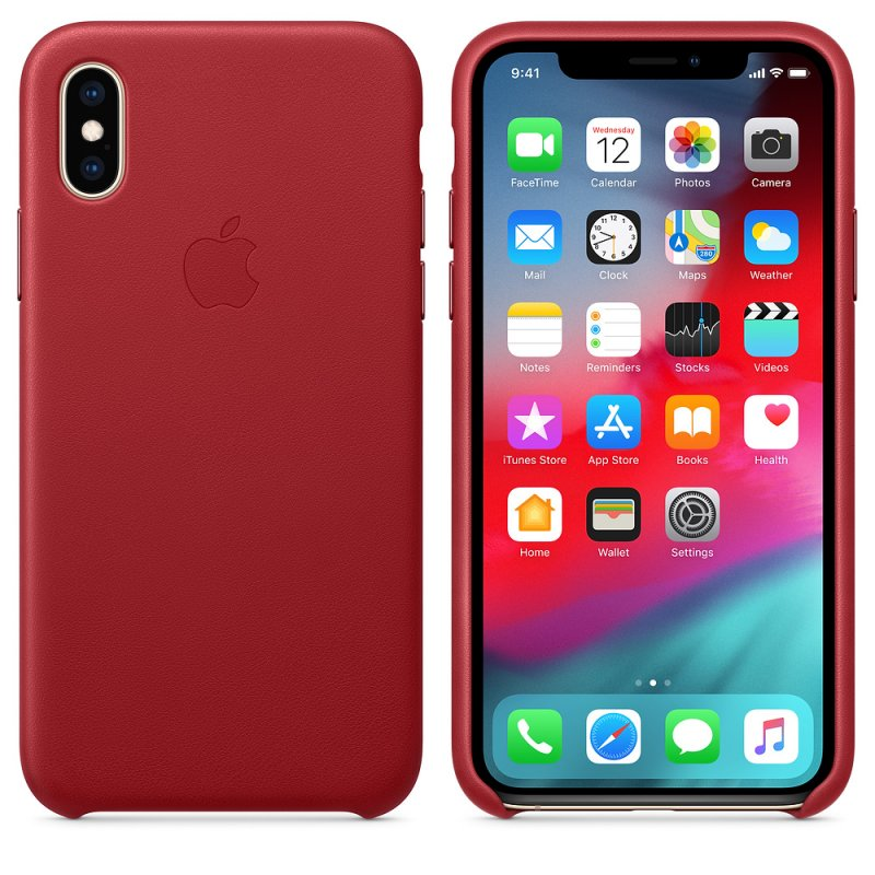 iPhone XS Leather Case - (PRODUCT)RED - obrázek č. 1