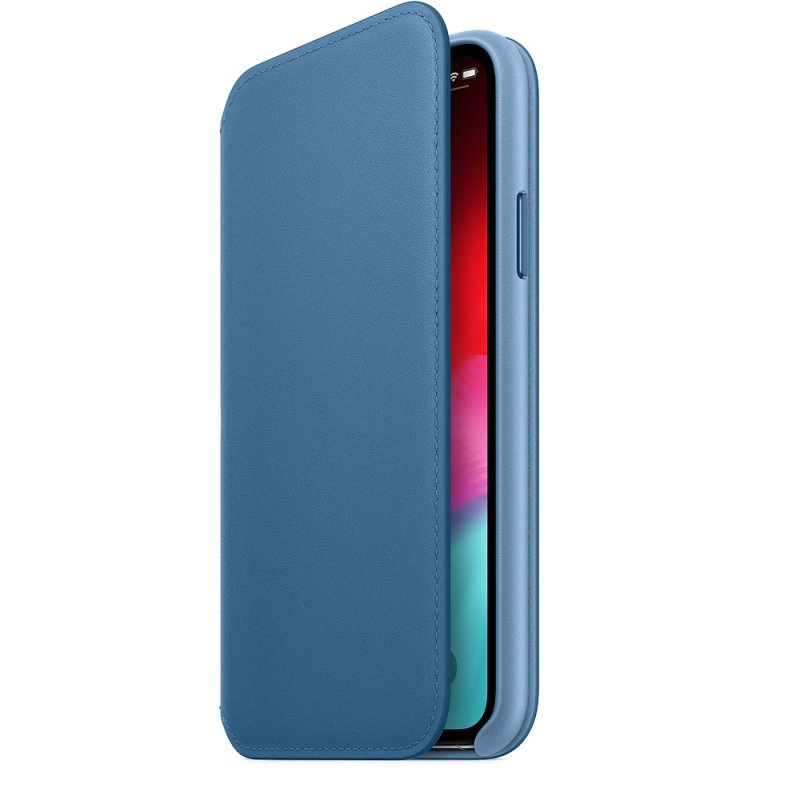 iPhone XS Max Leather Folio - Cape Cod Blue - obrázek č. 2