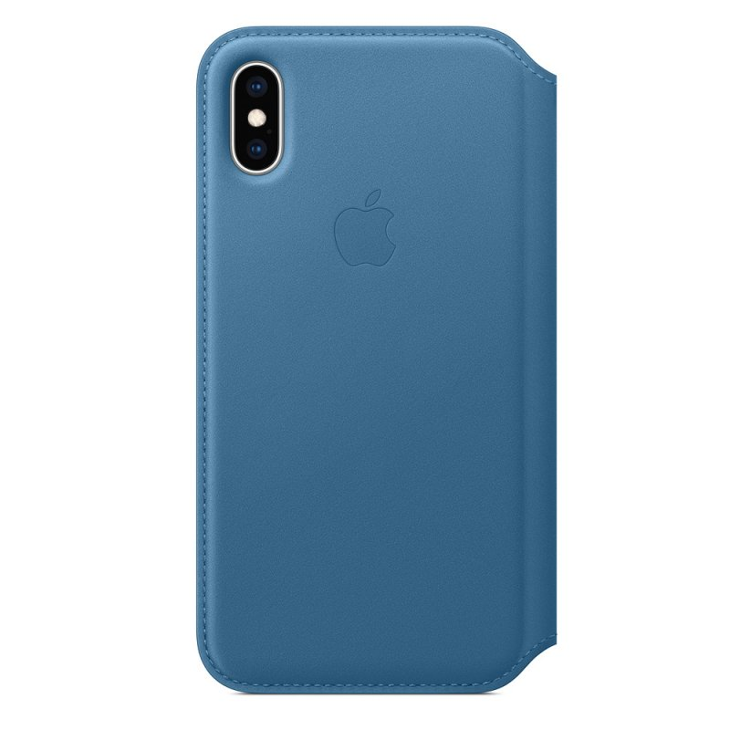 iPhone XS Max Leather Folio - Cape Cod Blue - obrázek produktu