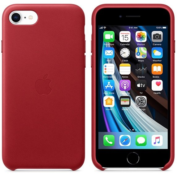 iPhone SE Leather Case - (PRODUCT)RED - obrázek č. 1