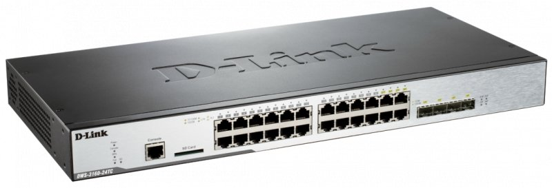 D-Link DWS-3160-24TC Unified Switch with 4 Combo - obrázek produktu