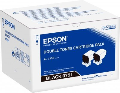 Double pack Toner Black -  Epson WorkForce AL-C300 - obrázek produktu