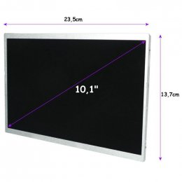 "Qoltec LED displej 10.1"" 1024*600 GLOSSY Slim - 40Pin, GRADE A+  (7127.LED_10.1_G_SLIM)"