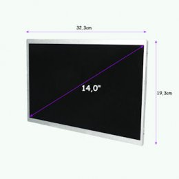 "Qoltec LED displej 14.0"" 1366*768 GLOSSY -  40Pin, GRADE A+  (7132.LED_14.0_G)"