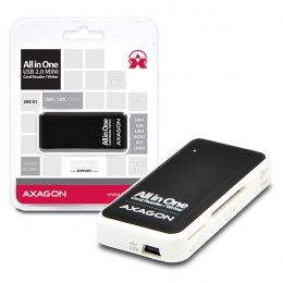 AXAGON CRE-X1, USB 2.0 externí MINI čtečka 5-slot ALL-IN-ONE  (CRE-X1)