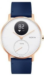 Obrázek Nokia Steel HR (36mm) Rose Gold w/  Blue Leather + Grey