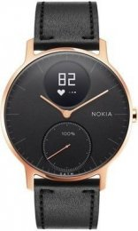Obrázek Nokia Steel HR (36mm) Rose Gold w/  Black Leather + Bla