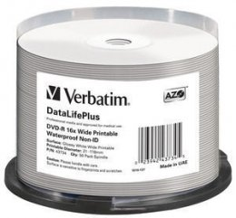 VERBATIM DVD-R (16xWide Waterproof,4,7GB),50cake  (43734)