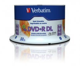 VERBATIM DVD+R DL (8xPrintable, 8,5GB), 50 cake  (97693)