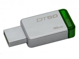 16GB Kingston USB 3.0 DT50 kovová zelená  (DT50/16GB)