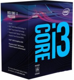 CPU Intel Core i3-8100 BOX (3.6GHz, LGA1151, VGA)  (BX80684I38100)