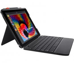Logitech SLIM COMBO Case with Bluetooth Keyboard for iPad 5th & 6th generation - UK INTNL  (920-009047)