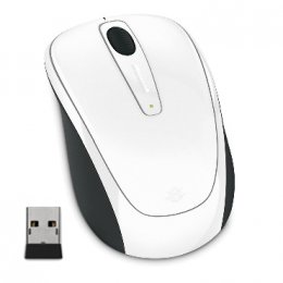 Microsoft Wireless Mobile Mouse 3500, White Gloss  (GMF-00294)