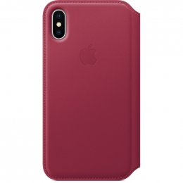 Obrázek iPhone X Leather Folio - Berry