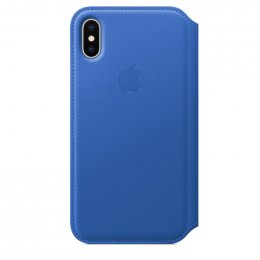 Obrázek iPhone X Leather Folio - Electric Blue