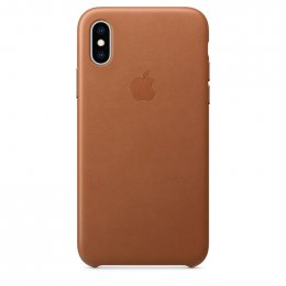 Obrázek iPhone XS Max Leather Case - Saddle Brown