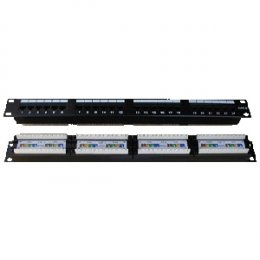 "DATACOM Patch panel 24p. CAT6 1U,4x6 LSA, UTP, 19""  (3091)"