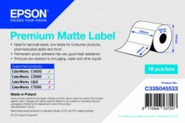 Premium Matte Label -102mm x152mm, 225 labels  (C33S045533)