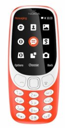 Nokia 3310 Single SIM 2017 Red  (A00028219)