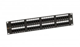 "19"" Patch panel Solarix 48 x RJ45 CAT6 UTP černý  (SX48-6-UTP-BK)"