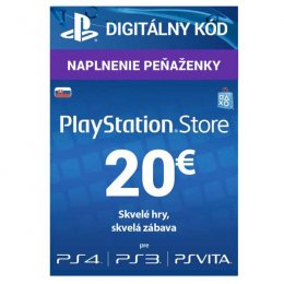 PlayStation Live Cards 20 EUR Hang pro SK PS Store  (PS719899440)