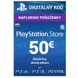 PlayStation Live Cards 50 EUR Hang pro SK PS Store  (PS719800057)