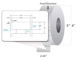 "Label RFID, 02.36"" X 0.98"" (60x25mm), White coated PP, 500/ roll  (10028598)"