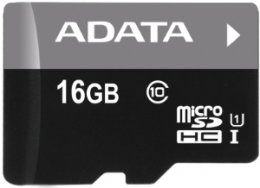ADATA 16GB MicroSDHC Premier,class 10,with Adapter  (AUSDH16GUICL10-RA1)
