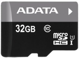 ADATA 32GB MicroSDHC Premier,class 10,with Adapter  (AUSDH32GUICL10-RA1)