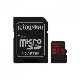 32GB microSDHC Kingston Canvas React  U3 100R/ 70W V30 A1 + SD adapter