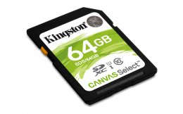 64GB SDXC Kingston Canvas Select CL10 UHS-I 80R  (SDS/64GB)