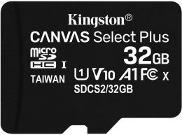 32GB microSDHC Kingston Canvas Select Plus  A1 CL10 100MB/ s bez adapteru  (SDCS2/32GBSP)