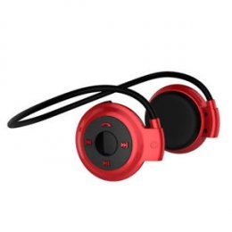 Wodasound ® Sports mini 503 Bluetooth stereo sluchátka za hlavu, MP3 a FM rádio Red  (mini503-TF Red)