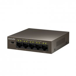 Tenda TEF1105P-4-63W PoE AT switch 4x PoE 802.3af/ at, 5x 100Mb/ s, PoE celkem 63W, fanless  (TEF1105P-4-63W)