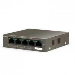 Tenda TEG1105P-4-63W PoE AT switch 4x PoE 802.3af/ at, 5x 1 Gb/ s, PoE celkem 63W, fanless  (TEG1105P-4-63W)