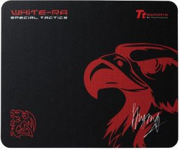 Tt eSPORTS Mouse Pad White Ra Black (360*300*3, Speed, M, Soft)  (EMP0008SMS)