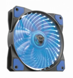 TRUST GXT 762B PC tichý LED ventilátor-black/ blue  (22347)