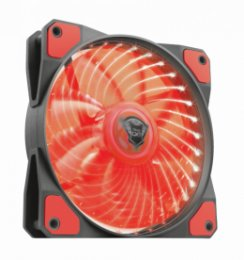 TRUST GXT 762B PC tichý LED ventilátor-black/ red  (22349)