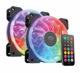 TRUST GXT 770 RGB Illuminated PC Case Fan 2-pack  (22972)