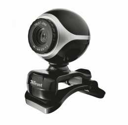 webkamera TRUST Exis Webcam - Black/ Silver  (17003)