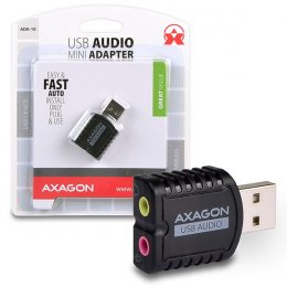 AXAGON ADA-10, USB2.0 - stereo audio MINI adaptér  (ADA-10)