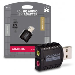 AXAGON ADA-17, USB2.0 - stereo HQ audio MINI adaptér, 24-bit/ 96kHz  (ADA-17)