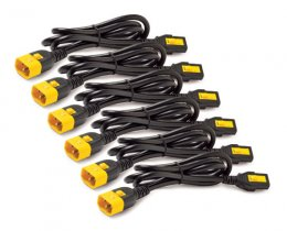 Power Cord Kit (6 ea), Locking, C13 to C14, 0.6m  (AP8702S-WW)