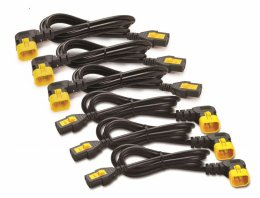 Power Cord Kit (6 ea), Locking C13toC14(90Dg),1.8m  (AP8706R-WW)